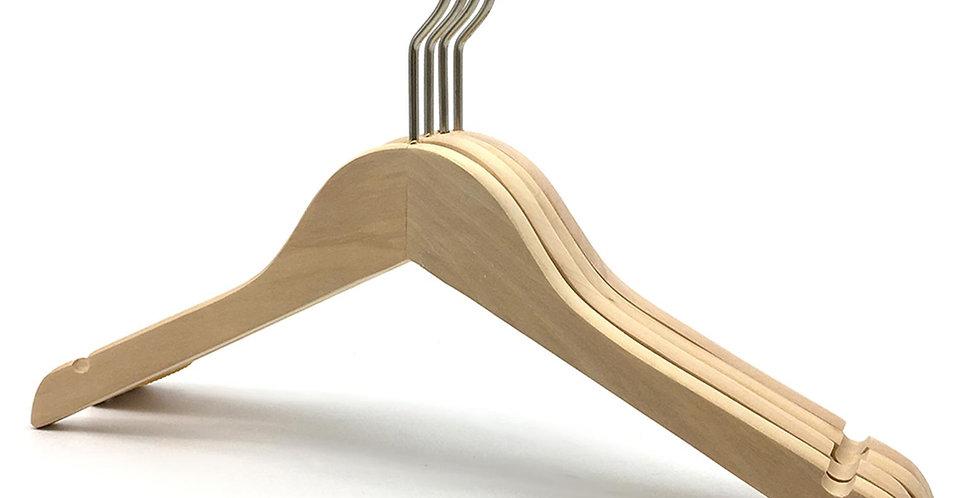 Standard Wooden Cloth Hanger / WH-019AN Nature