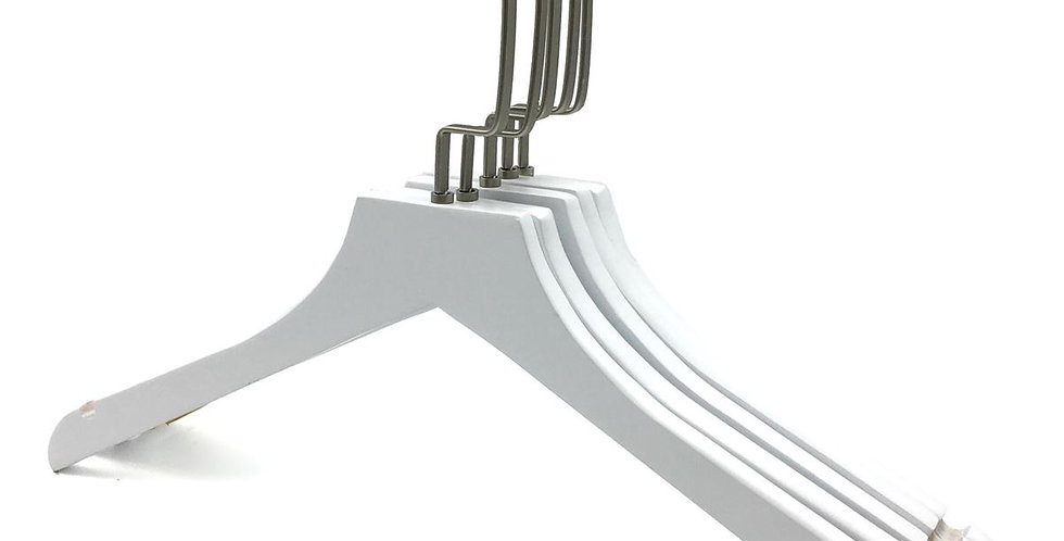 Standard Wooden Cloth Hanger / WH-024AW White