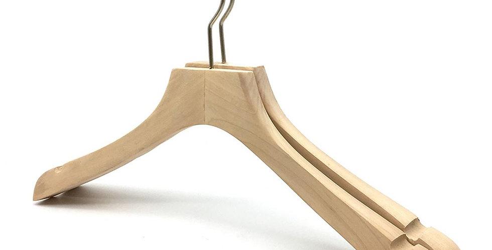 Standard Wooden Cloth Hanger / WH-022AN Nature