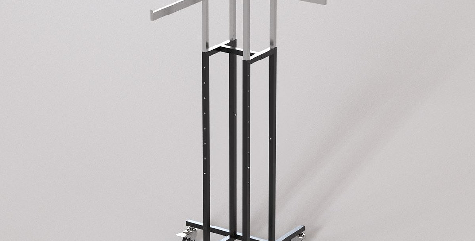 "4Way Garment Hanger Rack / 16"" Straight Rectangular Arm / Apparel Retail Display"