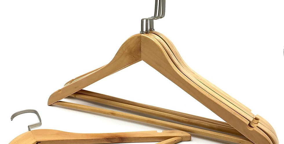 Wooden Cloth Hanger with Hanging Bar / WH-015AO Origin
