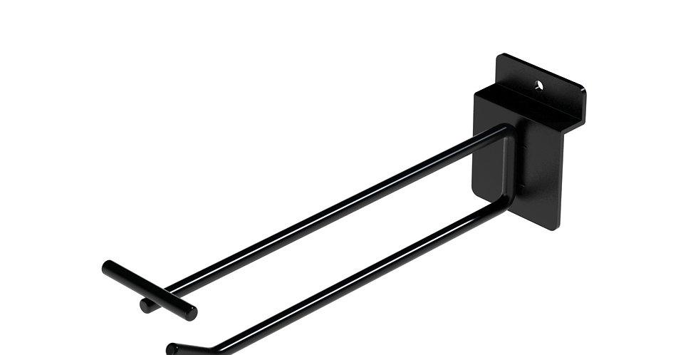 Double Wire T-Flip Display Hook (1) / Slatwall / 1000 PCS