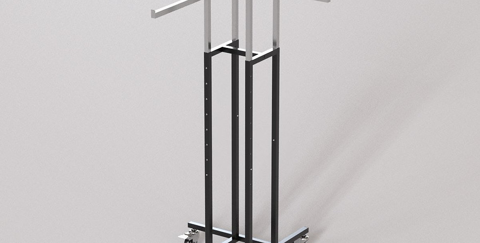 "4Way Garment Hanger Rack / 16"" Straight Square Arm / Apparel Retail Display"