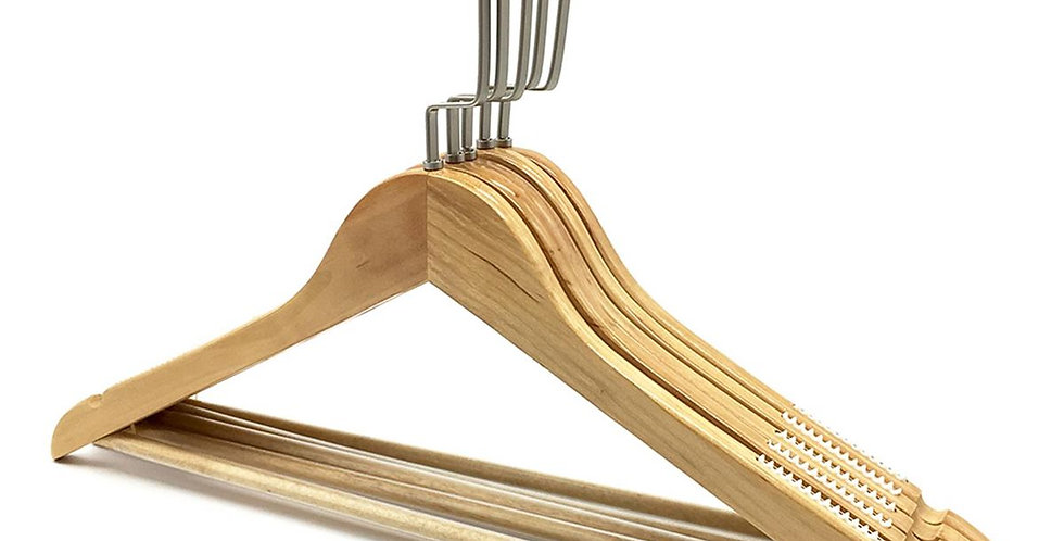 Wooden Cloth Hanger with Hanging Bar / WH-032AO Origin
