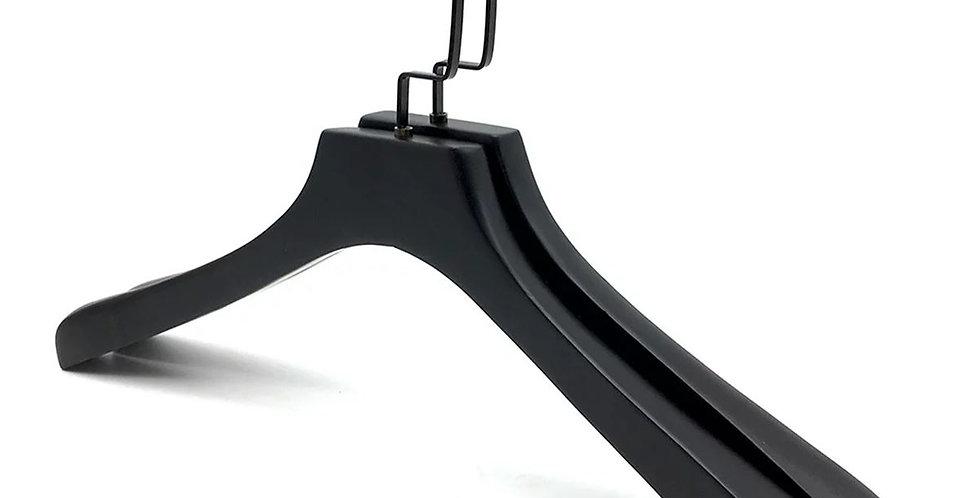 Wooden Cloth Hanger / WH-017AB Black