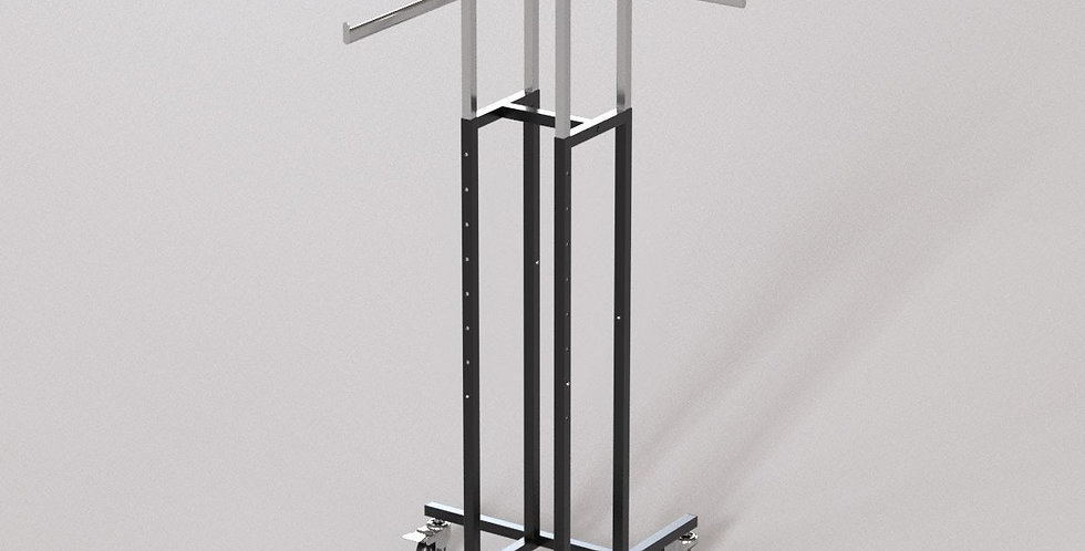 "4Way Garment Hanger Rack / 16"" Straight Oval Arm / Apparel Retail Display"