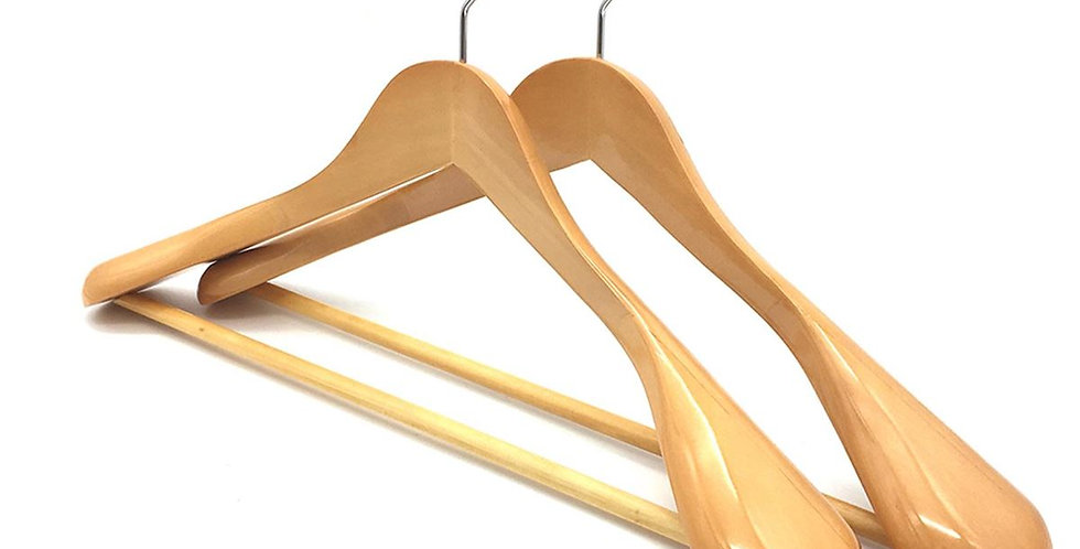 Wooden Cloth Hanger with Hanging Bar / WH-013AO Origin