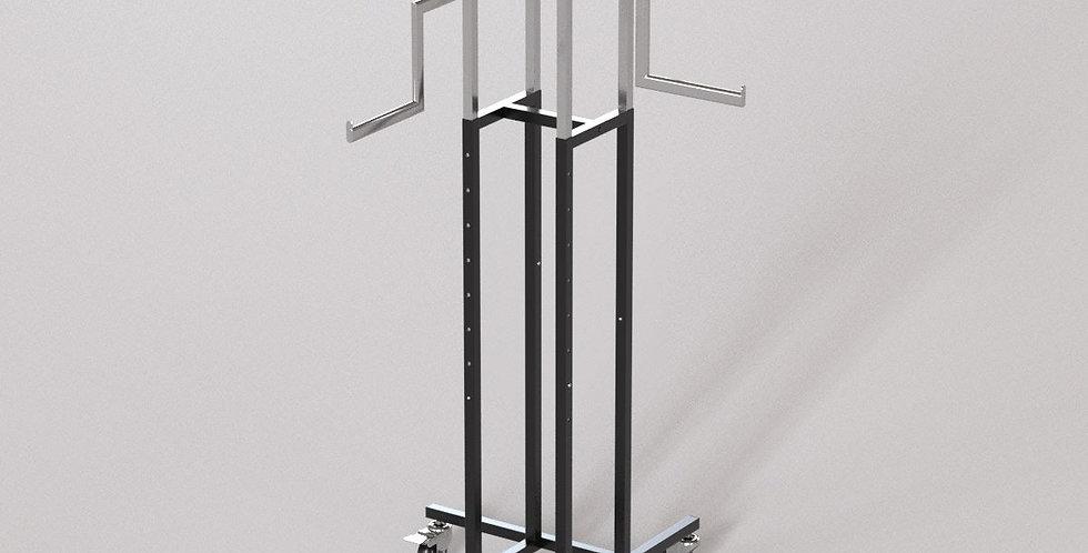 "4Way Garment Hanger Rack / 16"" Z-Shape Oval Arm / Apparel Retail Display"
