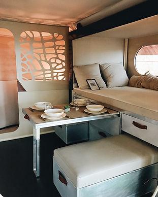 Inside of a Mobile Van