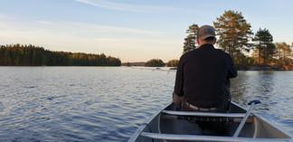 vissen uit de kano