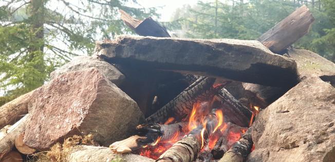 klein vuurtje om op te koken