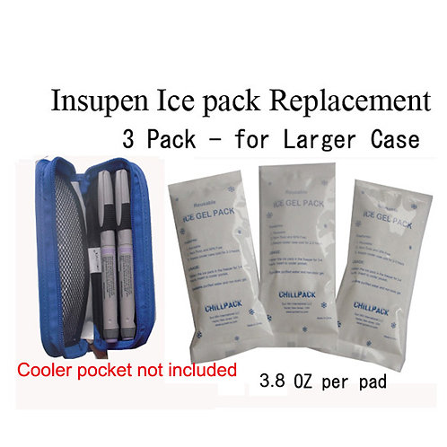 Insulin Pen Ice Pack Replacement -3 Pack(Small)