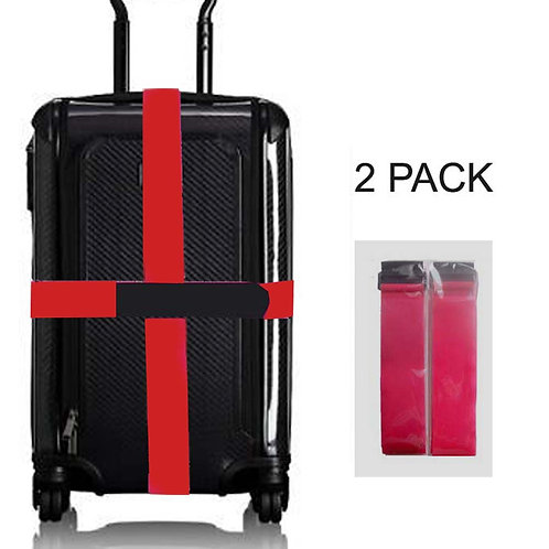 """Luggage Straps - Self Adhesive 2""""x 78"""" belt, Fits Variety of Luggage- 2 Pack"""