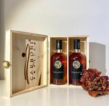 Confezione legno 2 Bottiglie Galante