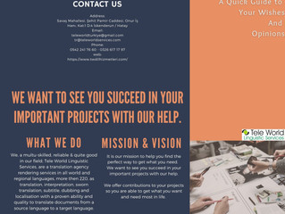 We Want to See You Succees ın Your Projects with Our Help. Contact us!
