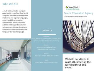 İskenderun Tercüme Bürosu - Adana Tercüme Bürosu- Malatya Tercüme Bürosu- Kars Tercüme Bürosu