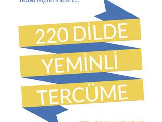 220 Dilde Yeminli Tercüme Hizmeti