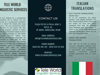 Best experienced native Italian translators!