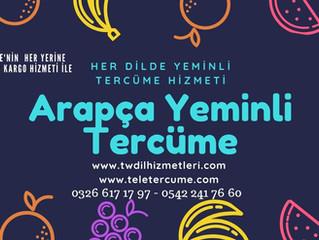 Arapça Yeminli Tercüme/Çeviri/Tercüman
