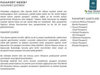 Pasaport Nedir? Pasaport Çevirisi