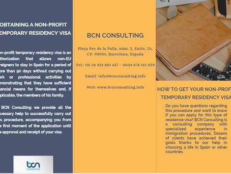 Obtaining a non-profit temporary residency visa