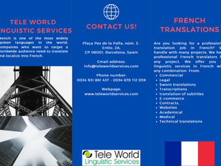 Best experienced native French translators. The leading French translation services