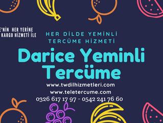 Darice Dilinde Yeminli Tercüme ve Tercümanlık Hizmetleri