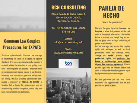 Pareja De Hecho or Common Law Couple for Expats