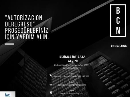 Autorización de regreso işlemlerinizde size yardımcı olalım...