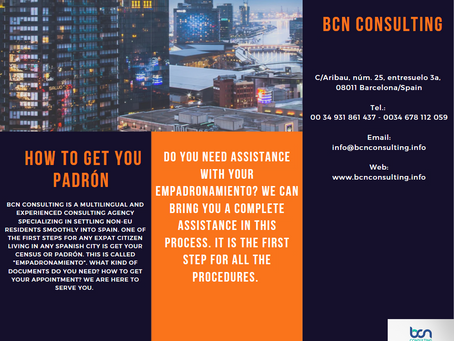 How to get your 'empadronamiento' with BCN Consulting
