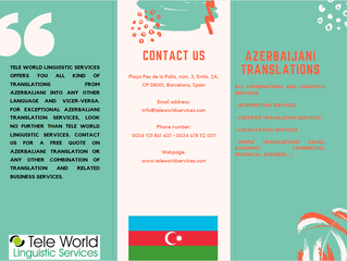 Perfect translations with our Azerbaijani translators. Do you need a translation for Azerbaijan?