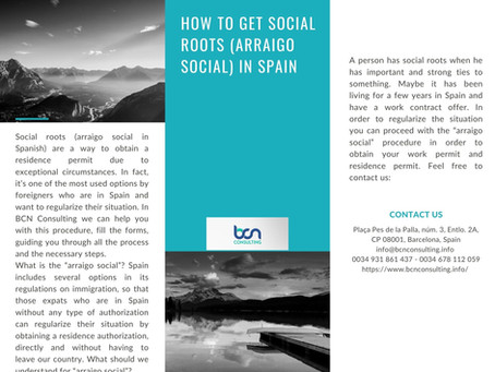 'Arraigo social' in Spain!