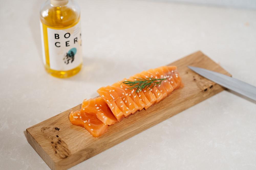huile de noix bio bocerno et saumon