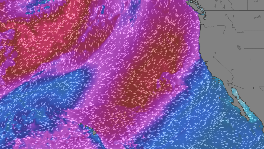swell forecast for Baja California depicts strong swel arriving March 14-16. 4x4 surf tours on behalf of windy.com