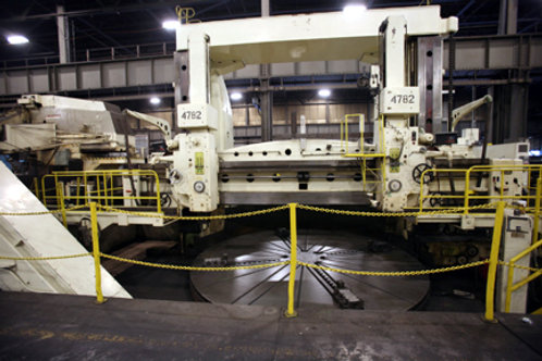 Skoda SK-50A 17ft Vertical Boring Mill w/Side Head (2) Swiveling Ram Heads