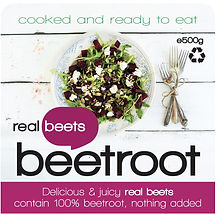 Delicious & juicy real beets contain 100% beetroot, nothing added