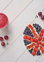 Grape Escape, The very indulgent Grape Escape is a mixture of red grapes, blueberries, banana and strawberries