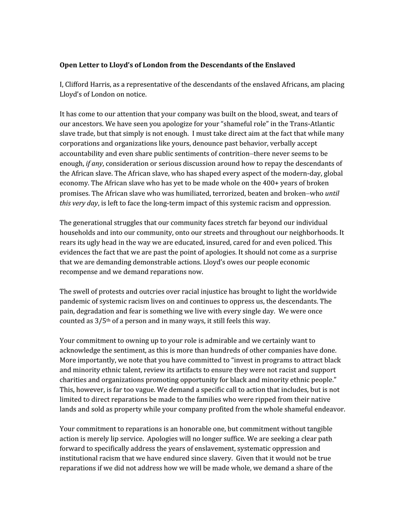 Lloyd's of London Open Letter -1.png