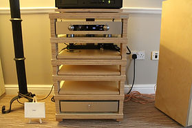 Baltic Birch ply audio rack. Plywood Audio support.