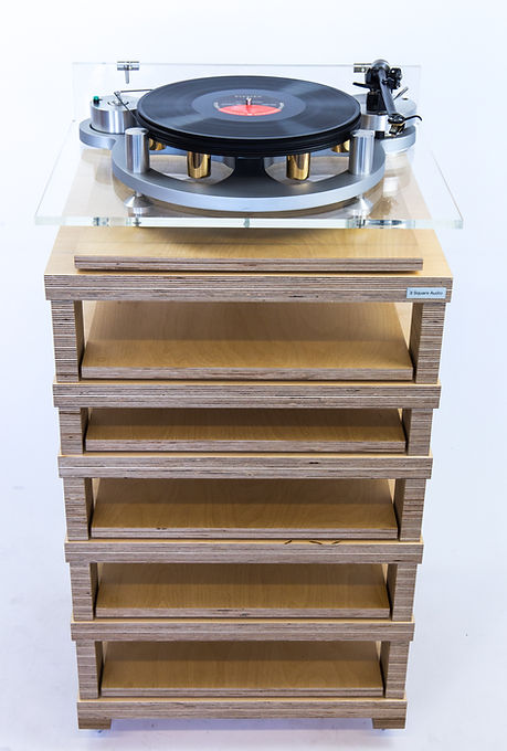 Birch ply support, Hi Fi rack, plywood rack, gyrodek, turntable support,