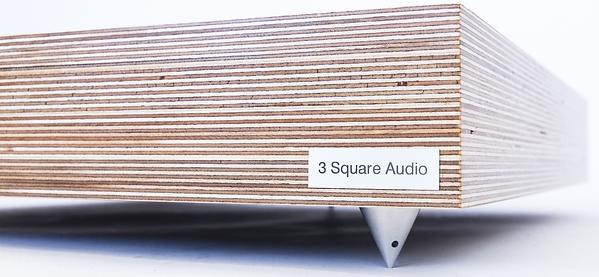 Birch ply isolation, loudspeaker isolation plinth, speaker supports, loudspeaker plywood plinth,