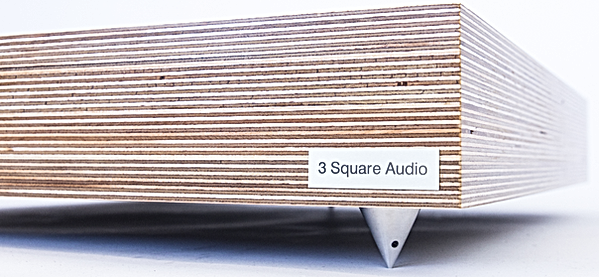 Birch ply isolation, loudspeaker isolation plinth, speaker supports, loudspeaker plywood plinth,