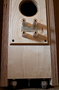 plywood speakers. speakers with 1st order crossovers.