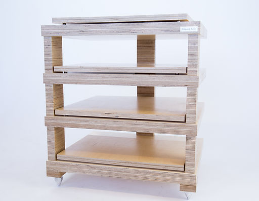Hi fi rack, hi fi support, birch ply rack, birch plywood rack