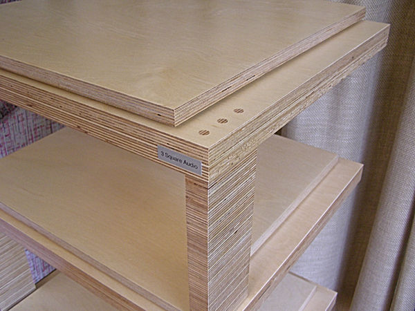 Birch Ply hi fi rack. Plywood hi fi rack. Bespoke hi fi rack