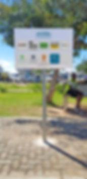 PLACA DE ESTACIONAMENTO RESERVADO E PARTILHADO NO AEROPORTO DE PEMBA - GOTOPEMBA - R&D