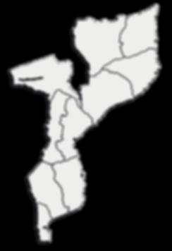 Mapa de Moçambique da GOTOPEMBA -R&D