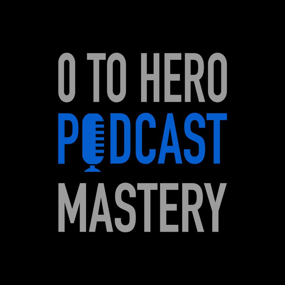 Zero Hero Podcast Logo design