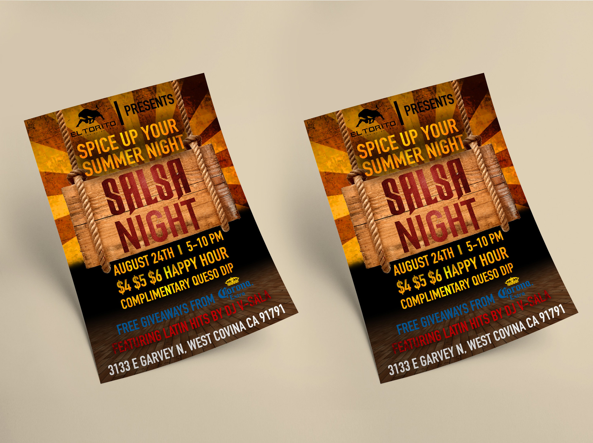 El Torito promotional flyer design