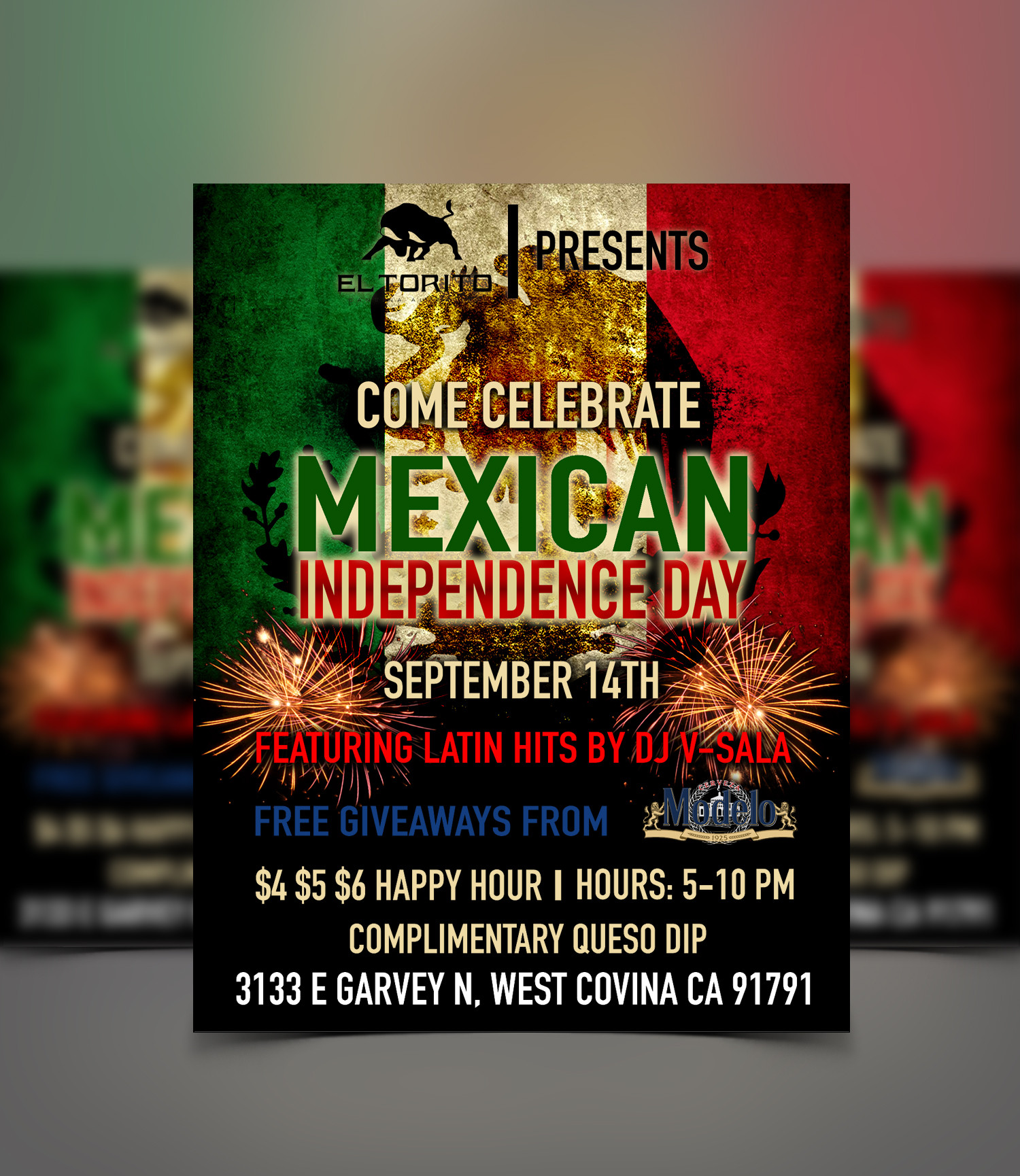 El Torito Mexican Independence flyer design
